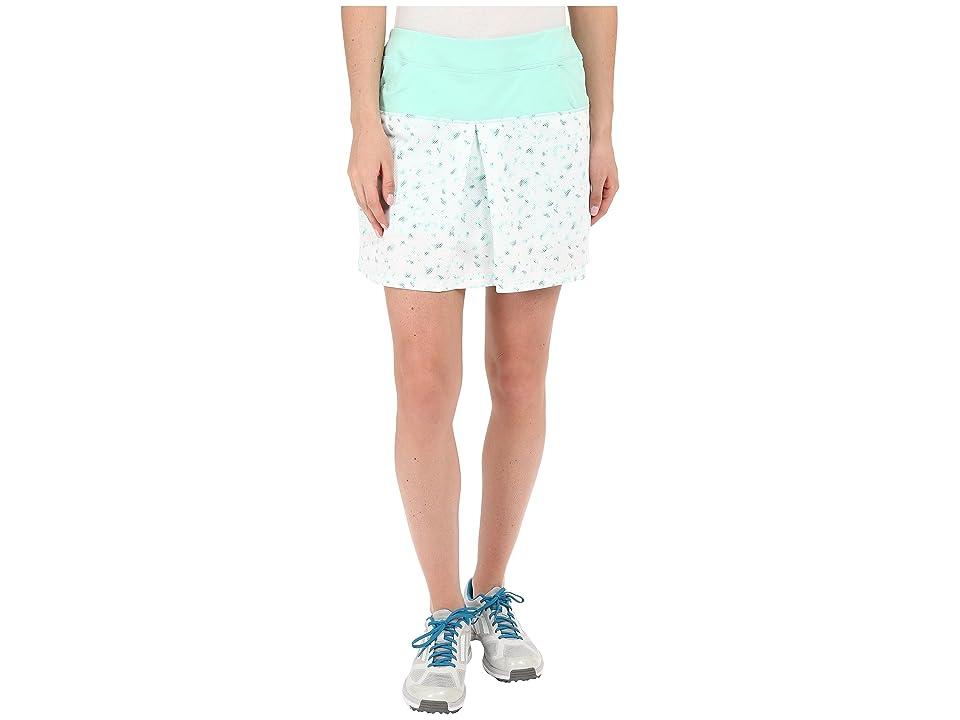 adidas Golf Tour Mixed Print Pull On Skort (Mint Burst) Women