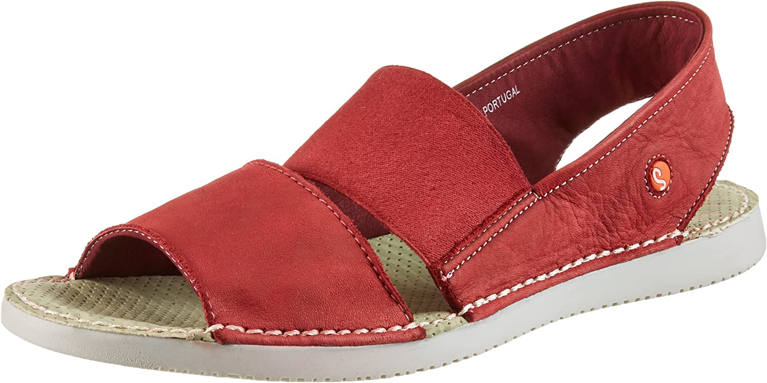 Softinos Tai Sandals in Red