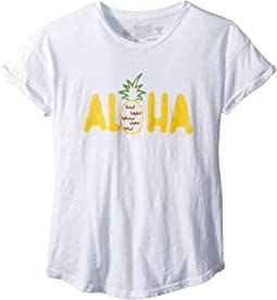 Aloha Rolled Short Sleeve Slub Tee (Big Kids)