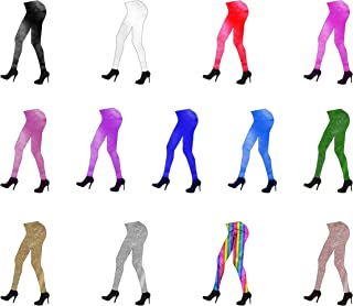 Unisex Adult Metallic Leggings in Various Sizes and Colours