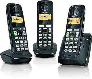 Gigaset A220 Trio - Telefono inalambrico, Pack de 3 Unidades, Manos Libres