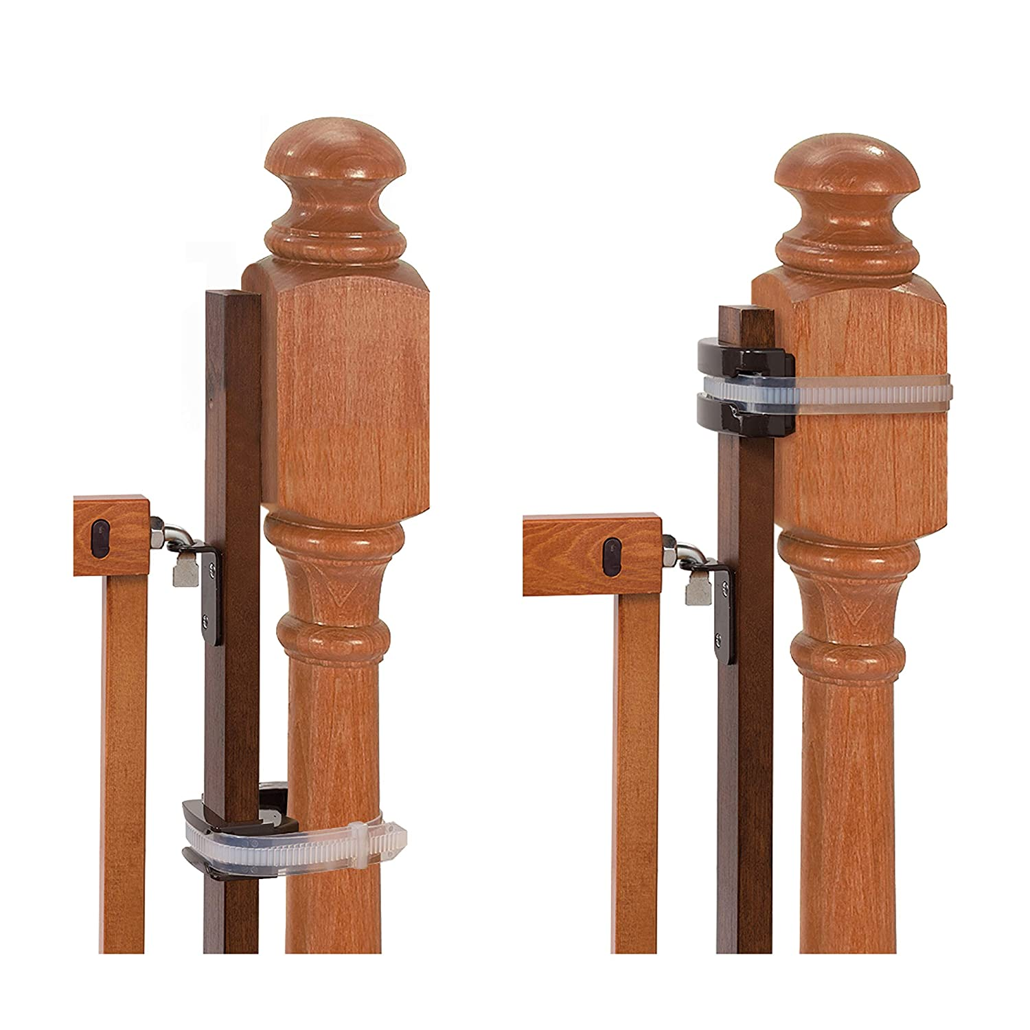 """Summer Banister to Banister Gate Mounting Kit - Fits Round or Square Banisters, Accommodates Most Hardware & Pressure Mount Baby Gates up to 37"""" Tall, Gate Sold Separately"""