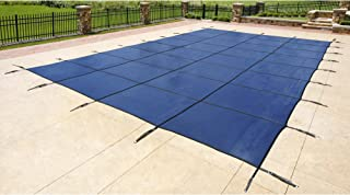 Blue Wave 16-ft x 32-ft Rectangular In Ground Pool Safety Cover - Blue