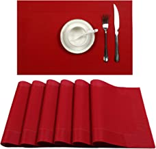 Best red kitchen placemats Reviews