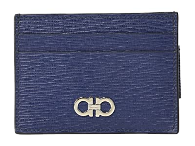 Salvatore Ferragamo Revival Gancio Card Holder 66A387 (Fjord Blue) Credit card Wallet