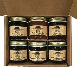Kitchen Kettle Village (Amish Made) Jam 6-pack Variety Sampler, 1.5 Ounce Jars [1 of each flavor]