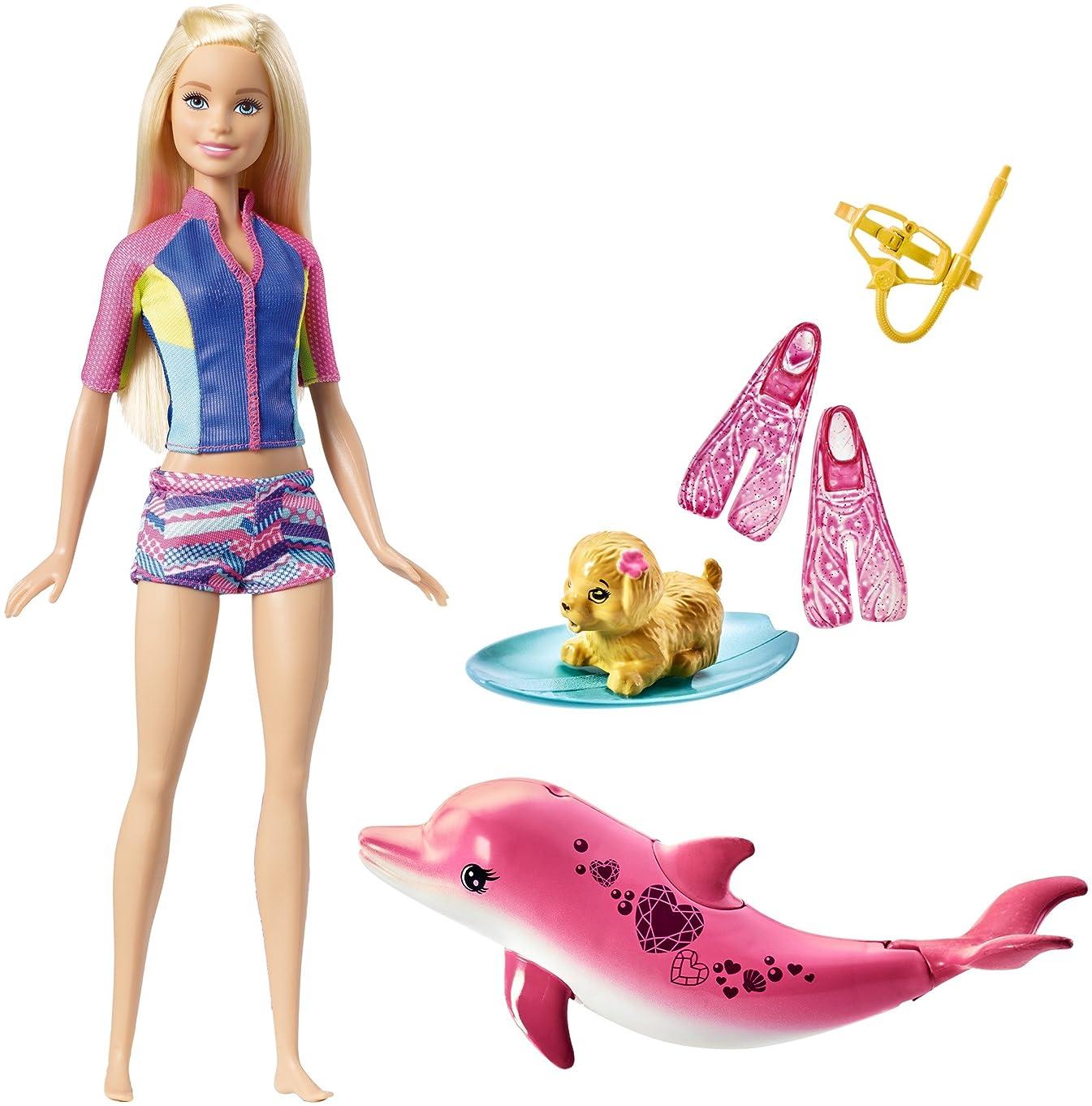 Barbie Dolphin Magic Snorkel Fun Friends [Amazon Exclusive]
