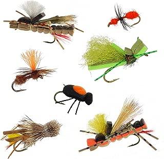 Terrestrial Trout Fly Fishing Dry Flies Assortment   7 Flies