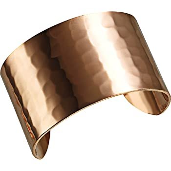 DEMMEX Hand Crafted Thickest 100% Turkish Hammered Copper Unisex Cuff Bracelet, 1.5mm Thick Solid High Gauge Pure Copper. Reduce Joint Pain and Inflammation & Stress