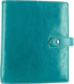Filofax Malden Kingfisher A5 Size Leather Organizer Agenda Planner Ring Binder 2019 Calendar with DiLoro Jot Pad Refills (A5, 2019 Kingfisher)