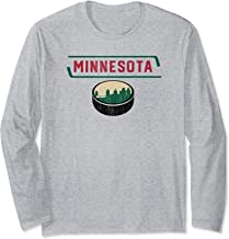 Vintage MPLS STP Minnesota Hockey City Skyline Long Sleeve T-Shirt