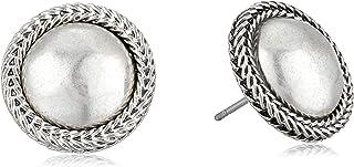 Lucky Brand Women's Chain Bead Post Earrings, Silver, One Size