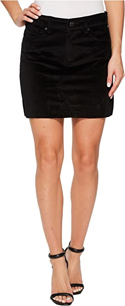Blank NYC - Black Velveteen Mini Skirt in Raven Feather