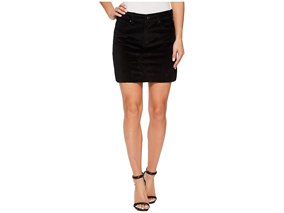Blank NYC Black Velveteen Mini Skirt in Raven Feather (Raven Feather) Women