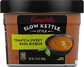 Campbell's Slow Kettle Style Soup, Tomato & Sweet Basil Bisque, 15.5 Ounce (Pack of 8)