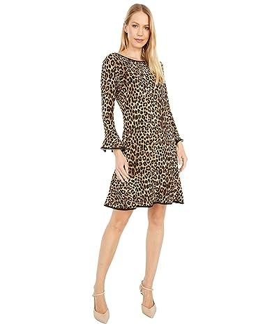 MICHAEL Michael Kors Cheetah Flounce Dress Women