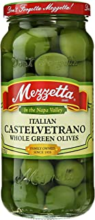 Mezzetta Italian Castelvetrano Whole Green Olives, 10 oz