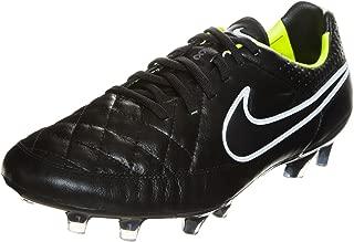 Tiempo Legend V FG Soccer Cleats Black Volt White