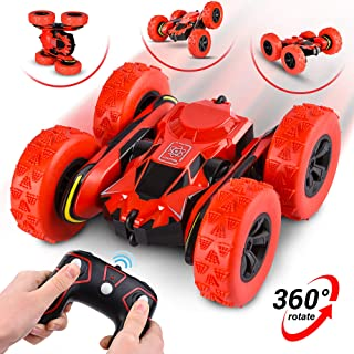 Remote Control Car - RC Stunt Car Toy and Monster Truck - 360 Degree Flip - Double Sided Race Car – 2.4 GHz RC 4WD Buggy – 12 km/hr Speed with 80 m Control Distance - (Improved)