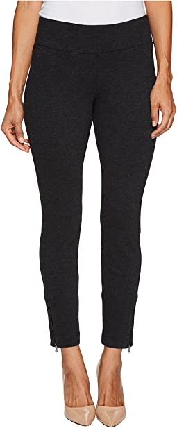 Petite Pull-On Legging Pants w/ Ankle Zip in Charcoal
