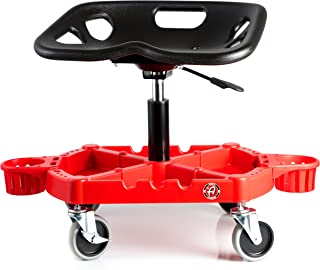 Adam's ProStool Seat - Detailing Creeper Ergonomically Designed for Comfort and Functionality - Adjustable Height and Heavy Duty Rolling Wheels - Comfortably Detail or Paint Correct Any Vehicle