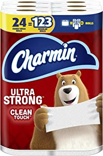 Charmin Ultra Strong Clean Touch Toilet Paper, 24 Family Mega Rolls = 123 Regular Rolls (Packaging May Vary)