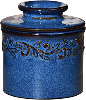 Butter Bell - The Original Butter Bell Crock by L. Tremain, French Ceramic Butter Dish, Antique Collection, Denim Blue