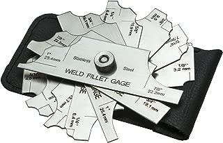 ALLY Tools 7 Piece Fillet Welding Inspection Gauge Set INCLUDES Leather Case - (1/8
