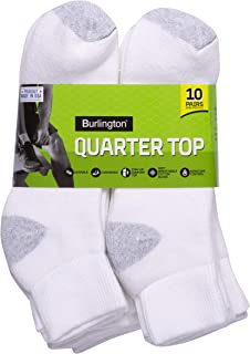 Burlington Men's Cotton Quarter Socks Comfort Power (10-Pack)