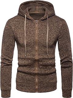 Cottory Mens Basic Outdoor Full Zip Hooded Fleece Jacket Casual Zipper Hoodie Top Coat