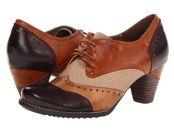 60s Shoes, Boots | 70s Shoes, Platforms, Boots LArtiste by Spring Step Bardot Brown High Heels $129.95 AT vintagedancer.com