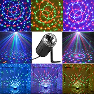 New <1&Small Size> Projector DJ Disco KTV Light Stage R&G Party Lighting Show Plug Black