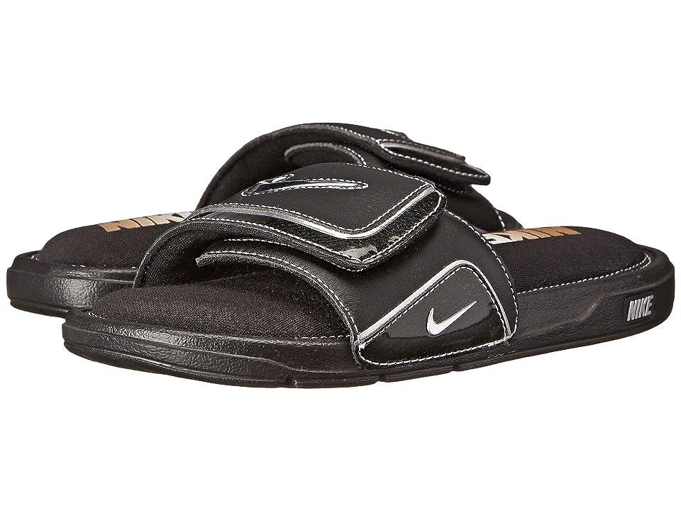 Nike Comfort Slide 2 (Black/Metallic Silver/White) Men
