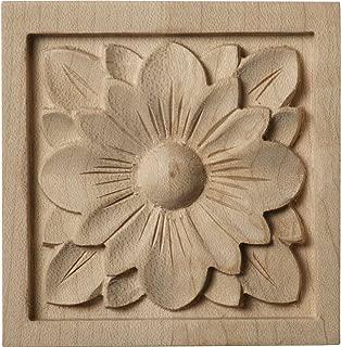 Ekena Millwork ROS03X03X00DGLW Small Dogwood Flower Rosette, 3-Inch x 3-Inch x 5/8-Inch, Lindenwood