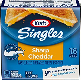 Kraft Singles Sharp Cheddar Cheese (16 Slices)