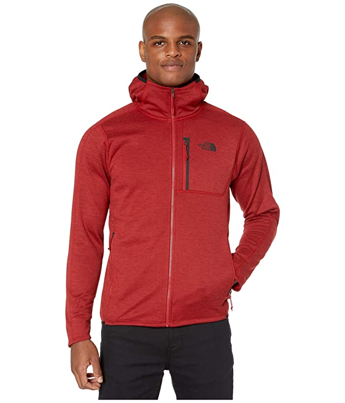 The North Face Canyonlands Hoodie (Cardinal Red Heather 1) Mens Sweatshirt