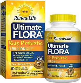 Renew Life 儿童益生菌,Ultimate Flora,10 亿单位,60 粒咀嚼片