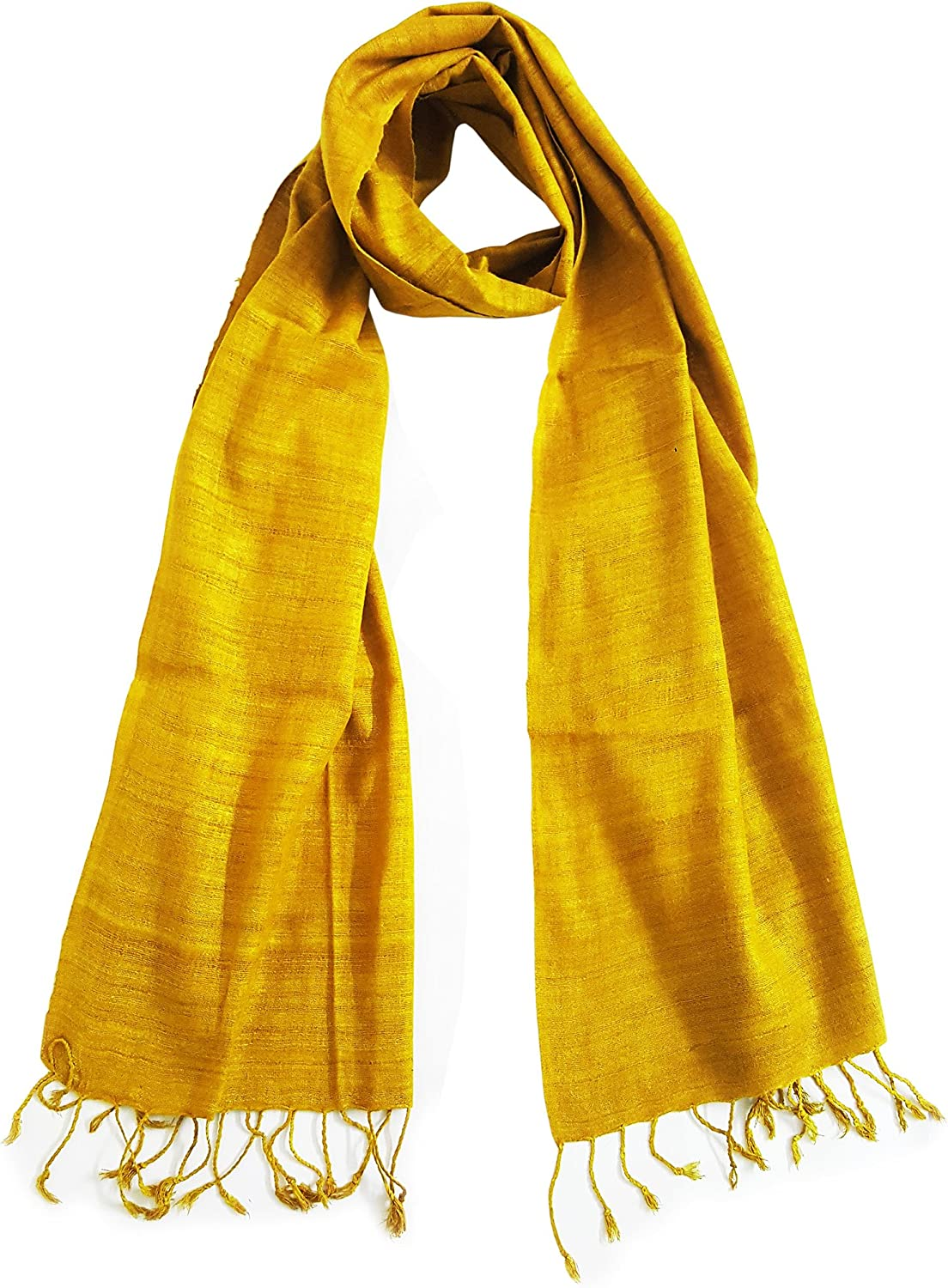 Mehrunnisa Ahimsa Peace Eri Silk Stole Large Scarf Wrap In Organic colors