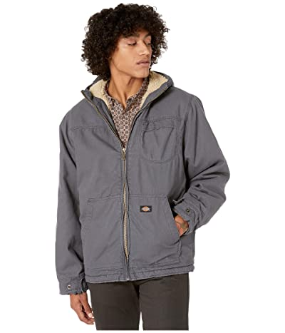 Dickies Sanded Duck Sherpa Lined Hooded Jacket (Charcoal) Men