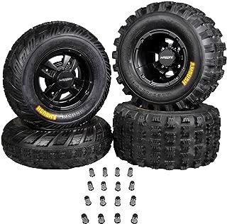 Ambush 21x7-10 20x10-9 Tires w MASSFX Black Rims 10x5 4/156 9x8 4/115 Wheels