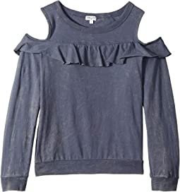 Flounce Long Sleeve Top (Big Kids)