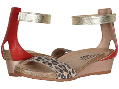 Naot Pixie (Cheetah Suede/Kiss Red Leather/Radiant Gold Leather) Women