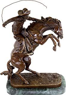 The Bronco Buster - Bronze Sculpture - Frederic Remington - White House Bronze - Horse Statues for Sale - Cowboy Statue