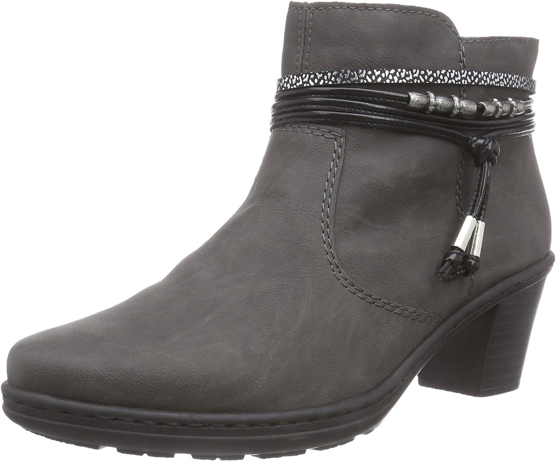 Rieker Women Ankle Boots grey, (fumo black-silver ) 54953-45