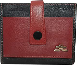 Laveri Black & Red Leather For Unisex - Card & ID Cases