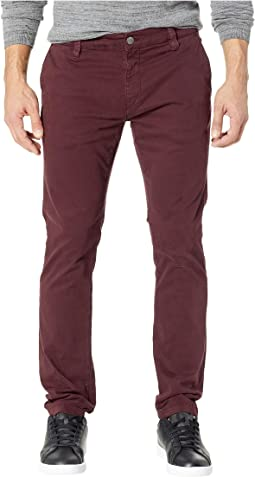 Johnny Slim Twill Chino in Burgundy Twill