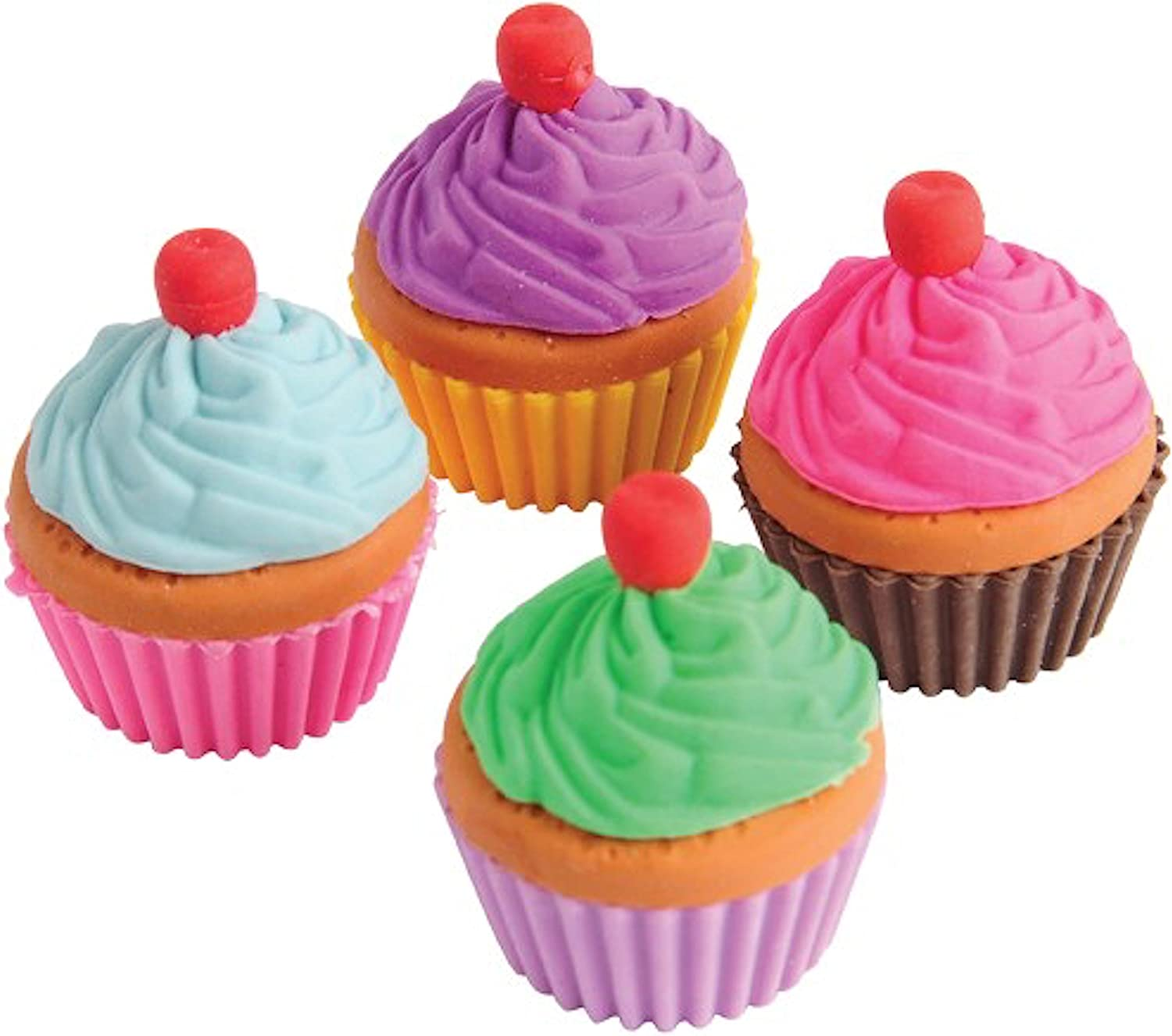 U.S. Toy Lot SEAL limited product of 12 Pull Erasers Color Free Shipping Cheap Bargain Gift Apart Assorted Cupcake