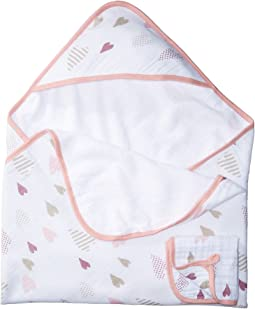 Classic Muslin Backed Hooded Towel Set
