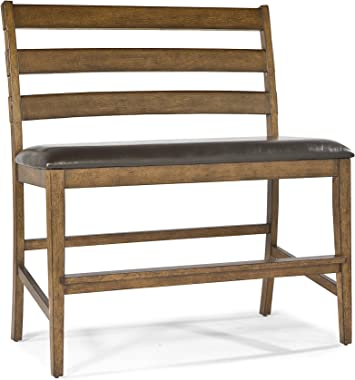 "Intercon Santa Clara Ladder Back Bench with PU Seat, 24"""
