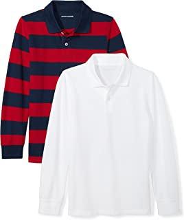 Boys' 2-Pack Long-Sleeve Pique Polo Shirt